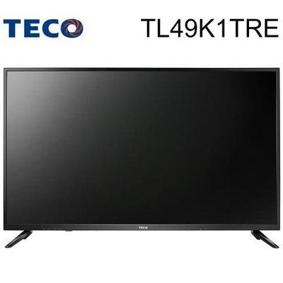TECO東元49吋 FHD 低藍光液晶顯示器+視訊盒(TL49K1TRE)高雄市店家