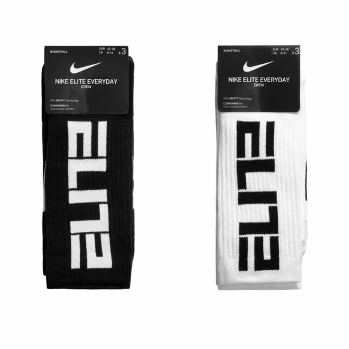 【G CORNER】Nike Elite Crew 籃球襪 長襪 襪子 SX7627-010黑 100白