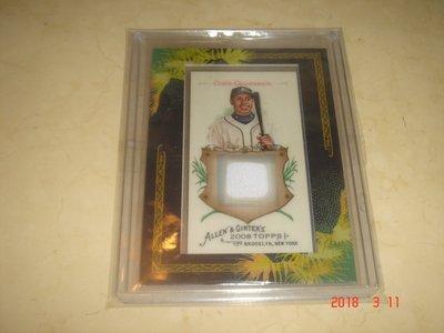 美國職棒 Tigers Curtis Granderson 2008 Topps A & G球衣卡 球員卡