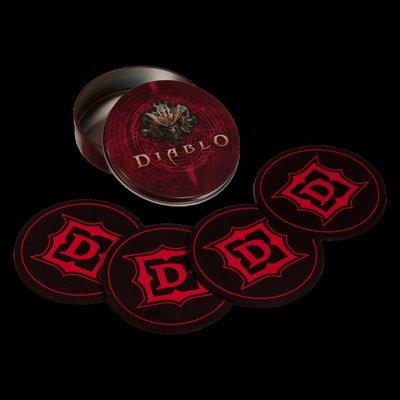 【丹】暴雪商城_Diablo Coaster Set 暗黑破壞神 杯墊 一組四入
