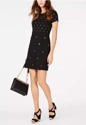 愛麗絲小舖~全新真品MICHAEL Michael Kors Studded Sheath Dress~現貨XS號