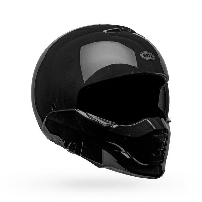 台中皇欣!!正美國 BELL 出品輕量化復古哈雷式下巴可拆全罩安全帽 Broozer 亮黑!!