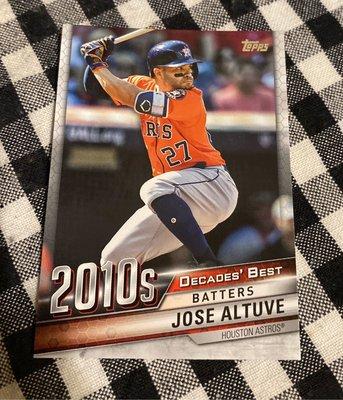 Jose Altuve 2020 Topps Update Series 2010s Decades' Best Batters DB-80