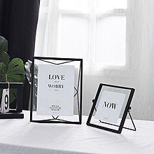 〖洋碼頭〗北歐金屬相框擺臺4寸6寸7寸創意幾何植物標本畫框簡約玻璃照片框 fjs691