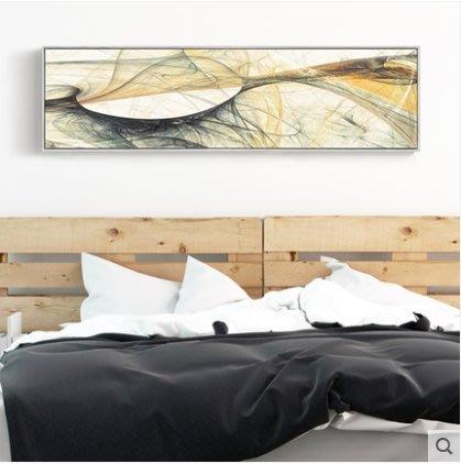 『格倫雅』迷幻 抽象裝飾畫臥室床頭畫橫幅壁畫房間長款樣板房酒店客房掛畫^17746
