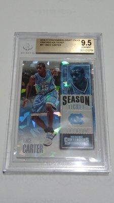 2016-17 PANINI CONTENDER CRACKED ICE VINCE CARTER/25 BGS 9.5