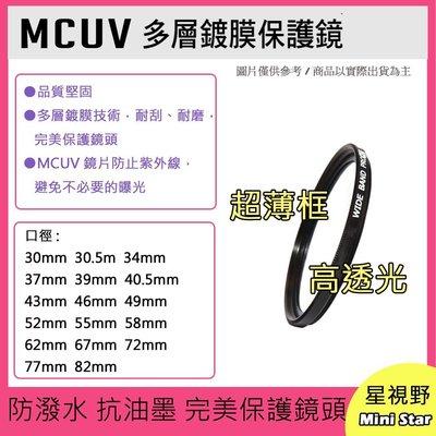 星視野 MCUV 37mm 多層鍍膜保護鏡 GF7 GF8 GF9 GF10 12-32mm X鏡14-42mm