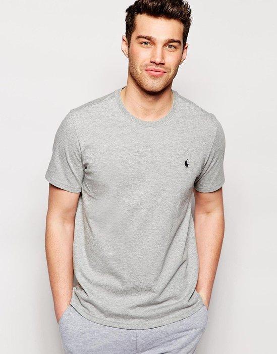 美國百分百【全新真品】Ralph Lauren 素面 T-shirt 短袖 上衣 男 T恤 RL 灰色 POLO 小馬 S M L B018