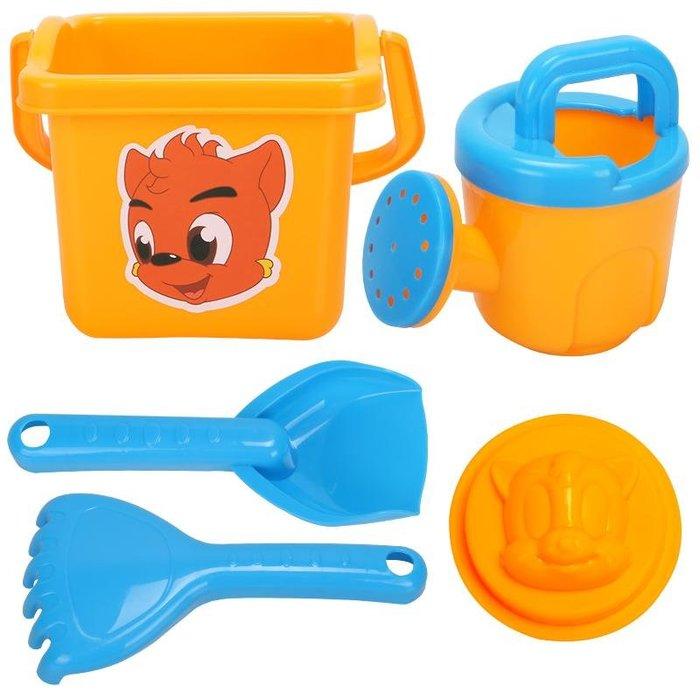 兒童沙灘玩具桶套裝決明子玩沙挖沙虹貓藍兔戲水寶寶洗澡工具