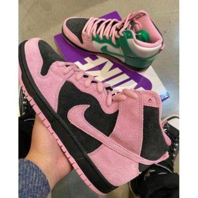 "Nike SB Dunk HIgh Pro Prm ""Invert Celtics""黑粉綠 運動鞋 CU7349-001"