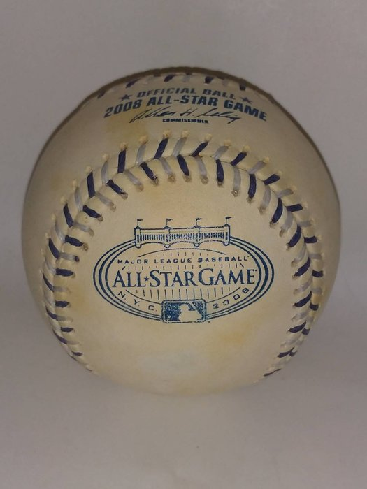 貳拾肆棒球--美國帶回職棒大聯盟MLB 2008 All-star全明星賽紐約洋基球場比賽用球/ Rawlings 製造