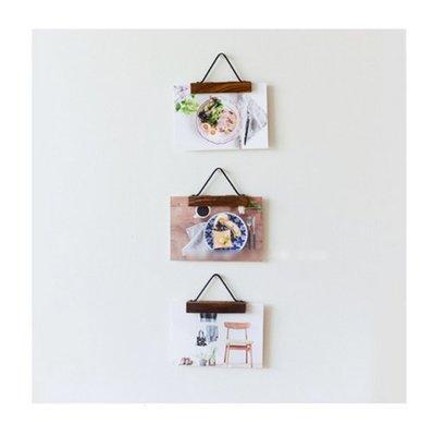 北歐復古實木照片夾 日本海報裝飾畫芯夾照片牆畫框(小號)_☆找好物FINDGOODS ☆