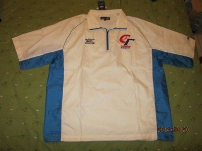 全新展示品~中華棒球隊短袖風衣一件LL號,非實戰球、亞洲職棒大賽、義大犀牛隊、統一獅隊、兄弟象隊、桃猿隊