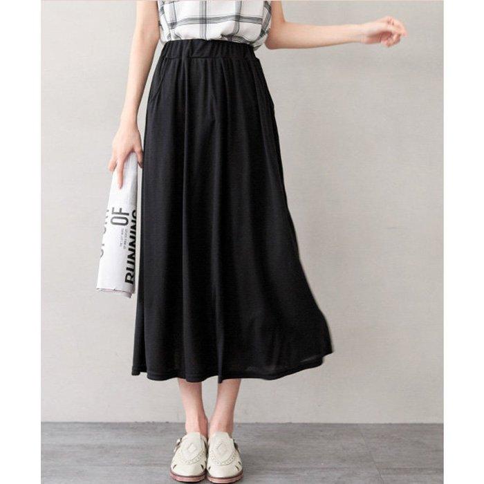 【Hao Da】全館399免運↘「M~XL。現貨」簡約舒適傘擺棉質長裙 (P1090)