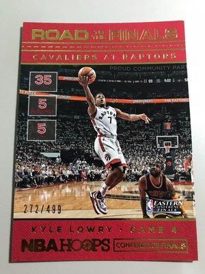 【KYLE LOWRY】2016-17 NBA HOOPS 季後賽之路 /499限量卡