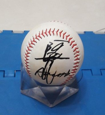 棒球天地--全台唯一--阿波野秀幸 簽名球.字跡漂亮..日本空運來台..
