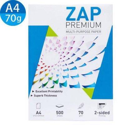 現貨】ZAP A4 影印紙 70磅 500張 影印 列印 雷射 噴墨 專用 A4紙 參 DOUBLE A【蘆洲 可自取