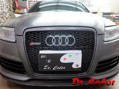 Dr. Color 玩色專業汽車包膜 Audi RS6 Avant 鍛造碳纖維_水箱護罩 / 尾翼 / 後蓋