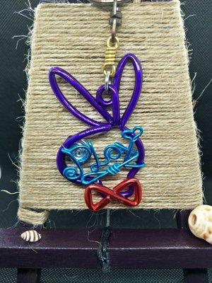 兔子 兔兔 rabbit (含單字)鋁飾不爽 姓名折字