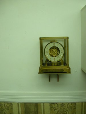 瑞士國寶 JAEGER積佳/ 50-60年代古董萬年空氣鐘/ 桌座壁掛兩宜
