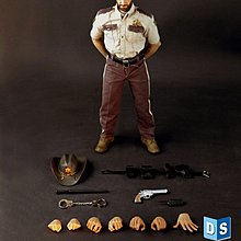 Hot DS02 1/6 Scale Walking Dead Man Zombie Police toys