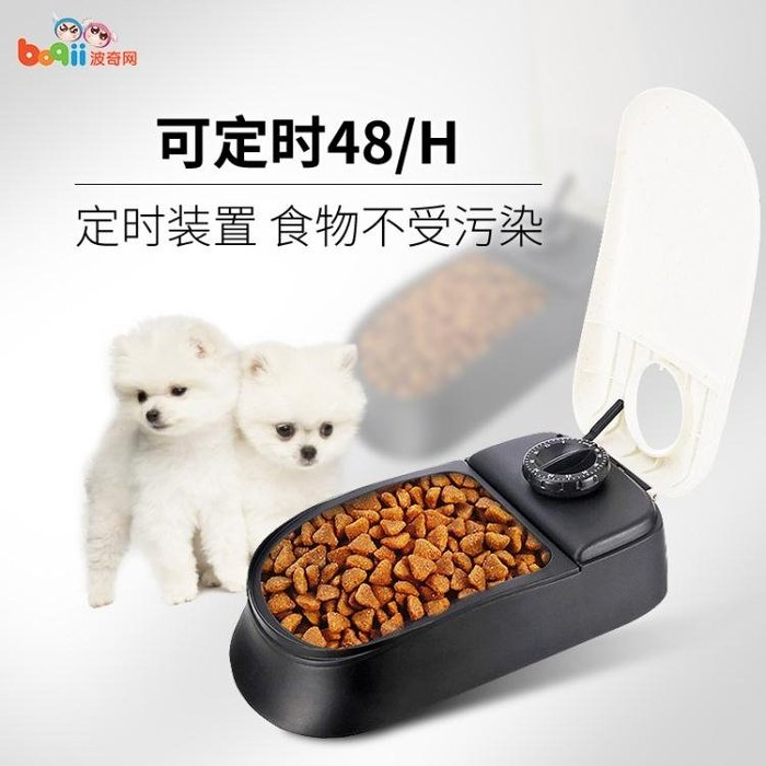 波奇網Pawise藍貓咪自動喂食器寵物自動喂食器定時狗狗自動喂食器igo