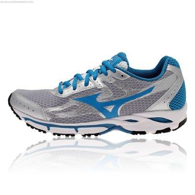 總統慢跑 (自取可刷國旅卡)MIZUNO J1GF141131 WAVE RESOLUTE 女慢跑鞋 出清價 1670