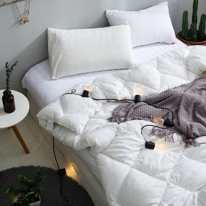 單人學生宿舍空調被子加厚保暖冬被雙人被芯羽絲絨被棉被igo   蜜拉貝爾