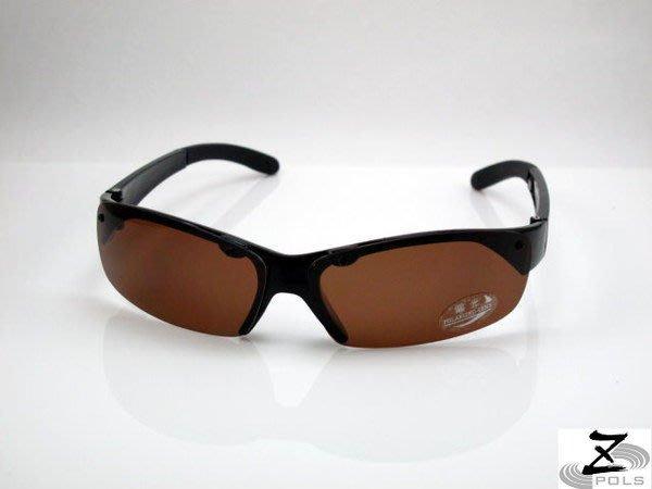 【Z-POLS專業釣客必備款】帥氣款100%偏光褐抗UV4太陽眼鏡,即將缺貨@下殺含運!