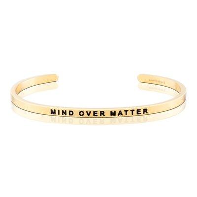 MANTRABAND 美國悄悄話手環 MIND OVER MATTER 心靈戰勝一切 金色手環