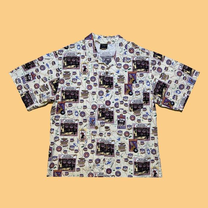 JCI:Vintage 罕見逸品 美國保齡球俱樂部 巡迴賽 夏威夷衫 90s / 古著 / 花襯衫 / 西岸