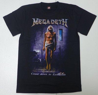 【Mr.17】 Megadeth 樂團 麥加迪斯重金屬鞭擊金屬THRASH METAL t-shirt 短袖(H632)