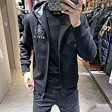 歐韓貨歐洲站羽絨服男潮針織袖拼接連帽冬裝2021新款保暖休閒男士外套