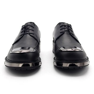 皮鞋 真皮休閒槍頭厚底鞋-時尚帥氣個性百搭男鞋73kv2[獨家進口][米蘭精品]