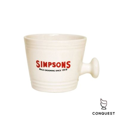 【 CONQUEST 】英國 Simpsons Shaving Mug 陶瓷刮鬍碗 刮鬍杯 刮鬍皂碗