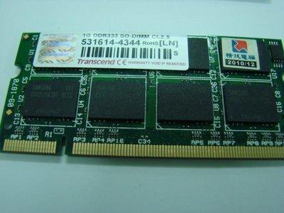 **NB-pro** 筆電維修,記憶體DDR333 1GB,適用全部P4,Centrino機種,散裝特價$1000