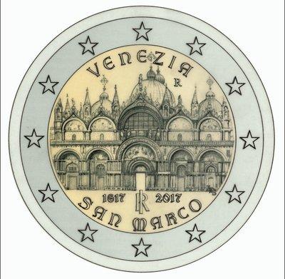 【幣】EURO 義大利2017年發行 威尼斯聖馬可大教堂400週年 2歐元紀念幣