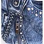 單肩包 〖閃潮〗香港原創TOUGH設計斜跨手提旅行大包包大容量鑲鑽牛仔布包HW19.670