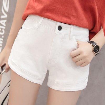 白色牛仔短褲 女夏季2019新款韓版顯瘦a字闊腿褲低腰寬鬆網紅熱褲