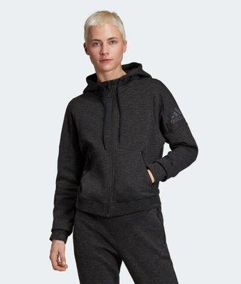 [麥修斯] ADIDAS W ID Melang Hd 運動外套 素面 舒適 黑 女款10 FI4089