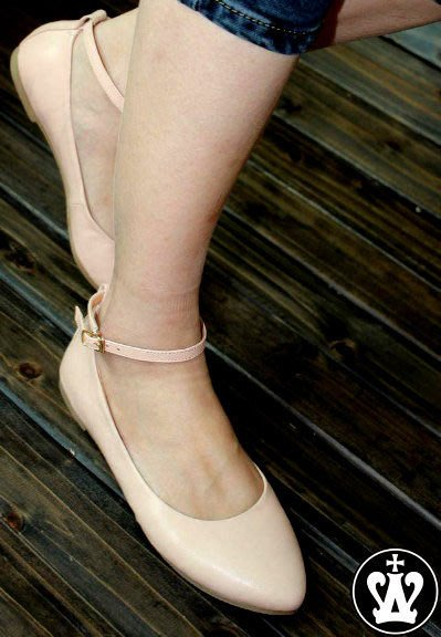 =WHITY=  韓國FUPA品牌 韓國製 羊皮柔軟純色質感平底鞋全真皮 S3DH952