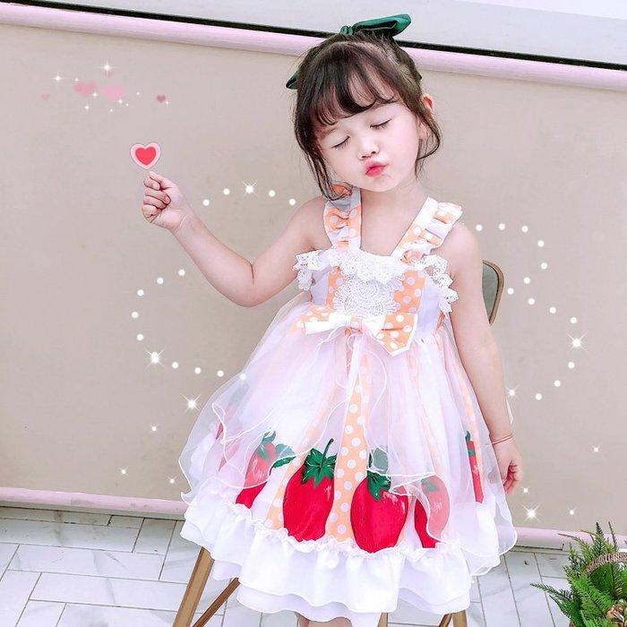 •*~ 辣媽咪衣飾小舖 ~*•❤童裝系列❤K070321韓版兒童夏款甜美夢幻夢蘿莉洛麗塔氣質公主裙洋裝