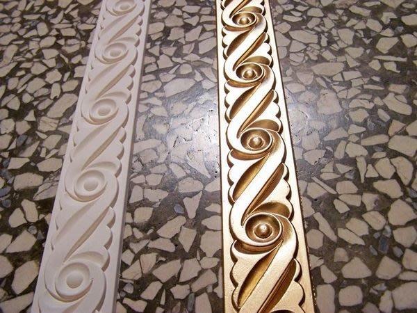 €歐洲宮廷式藝術 PU系列€浮雕 平線板 裝飾鏡框框邊修飾一支 240公分PI6838@$190;白色底漆色