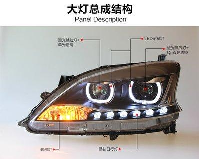 【炬霸科技】SUPER SENTRA 12 13 14 15 16 魚眼 光圈 大燈 頭燈 LED 透鏡  導光  17