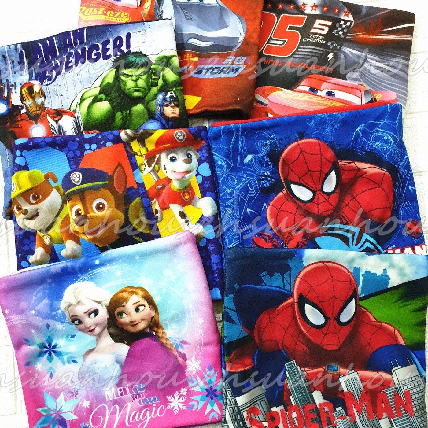 外貿 蜘蛛人 冰雪奇緣 兒童 圍脖  汪汪隊 復仇者聯盟 卡通 圍巾 男童 女童