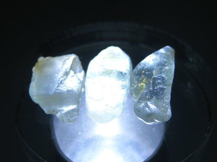 拓帕石 Topaz 天然無燒無處理 自然藍 原礦 標本 礦石 18【Texture & Nobleness 低調與奢華】
