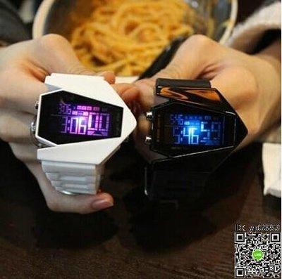 電子錶 LED運動夜光戰斗飛機兒童電子錶運動男女個性手錶情侶錶學生防水 多款