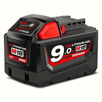 美國 Milwaukee 美沃奇 米沃奇 M18 9.0 高效能 鋰電池