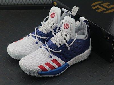 fc8af7ee860 Adidas Harden Vol.2 哈登二代寶藍白籃球鞋