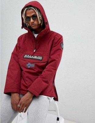 義大利Napapijri Rainforest winter 1 jacket 厚內刷毛外套酒紅M 全新